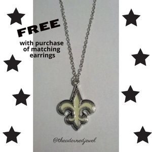 🖤🏈New Orleans Saints Fashion Jewelry Necklace🏈